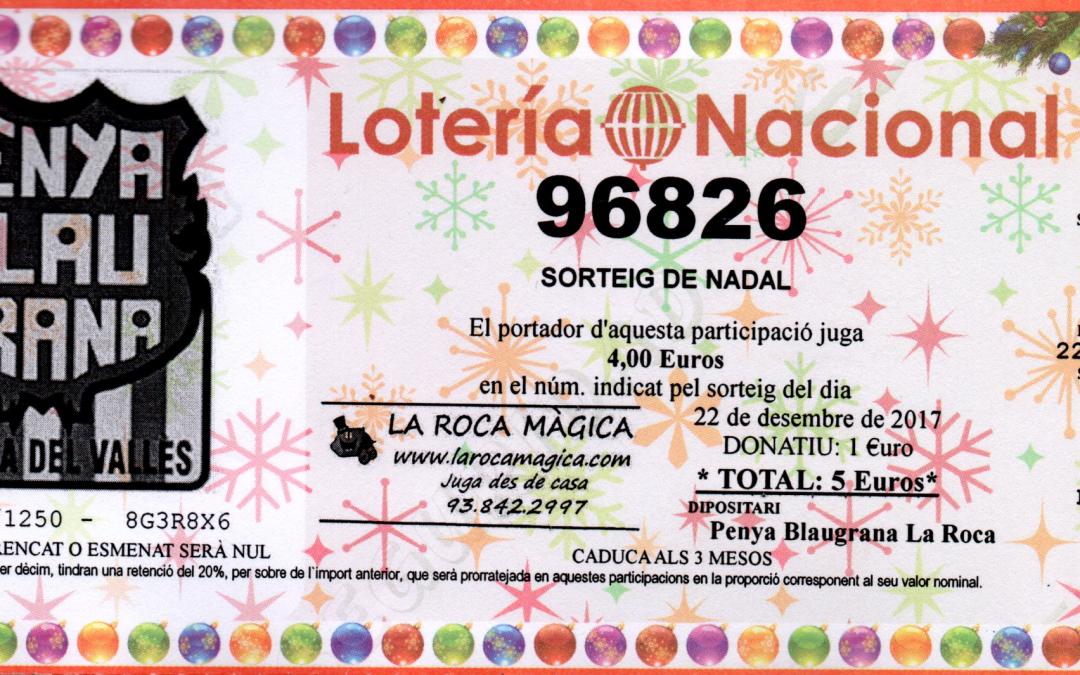 Anul·lació participacions 901 al 925 loteria Nadal